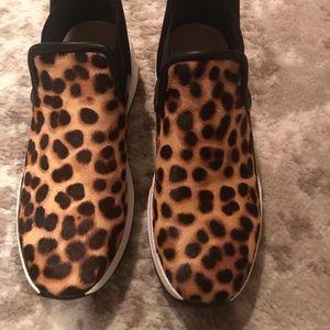 Taryn Rose Zayda leopard printed sneakers
